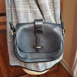 VTG Dooney & Bourke all weather leather saddle bag